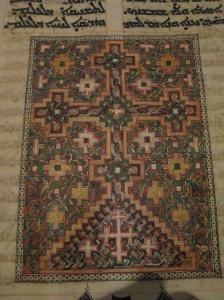 Cross - carpet page ©MvdB