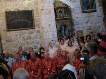 @MvdB; Passion week in St Mark's, Jerusalem